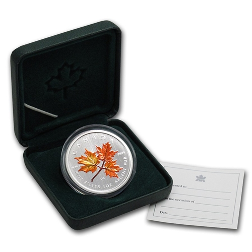 2001 $5 Silver Maple Leaf Coloured Coin – Autumn